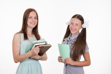 Portrait of a student and teacher
