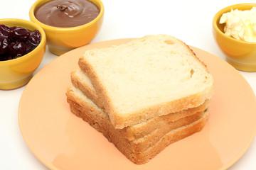 pane per toast pronto per prima colazione