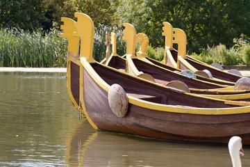 Fun boats in lake