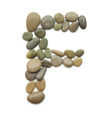 path alphabet of ocean stones