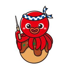 たこ焼に乗る蛸