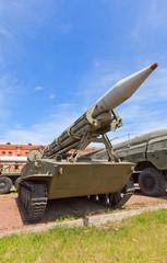 Soviet rocket launcher 2P16 of rocket system 2K6 Luna