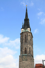 Kirchturm in Halle