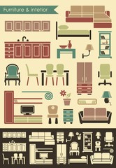 Furniture and elements of an interior for the house