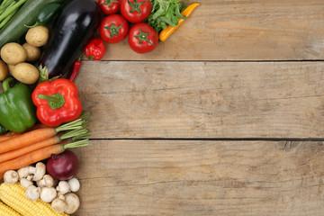 Gemüse mit Textfreiraum
