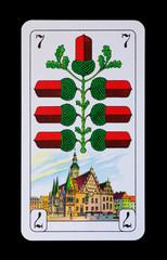 Spielkarten und Denkmäler - Eichs Sieben - Rathaus Breslau
