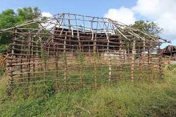 Struttura di una capanna in Kenya