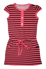 Small striped dress for girls
