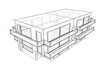 Gebäude Entwurf