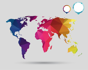 Colorful world with pointer