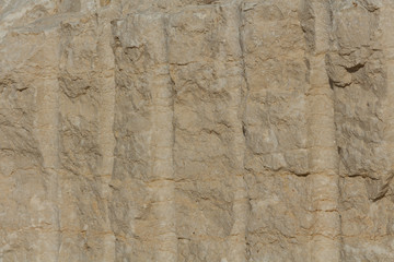 Texture - light yellow sandstone, structure of stone.