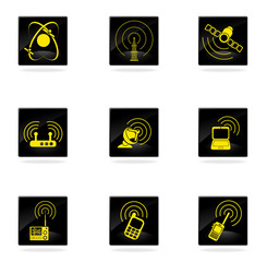 Radio signal simple vector icons
