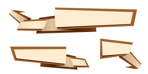 origami banner set brown