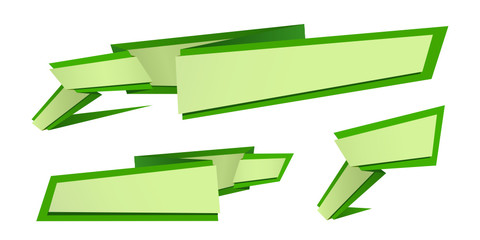 origami banner set green