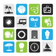 Silhouette Vacation and holiday icons