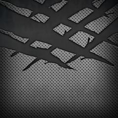 cracked metal plate