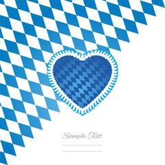 Oktoberfest heart white background vector