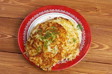 Boxty l Irish potato pancake.