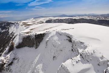 Beriain mountain in winter,Navarre, Spain