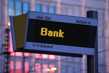 Anzeigetafel 1 - Bank