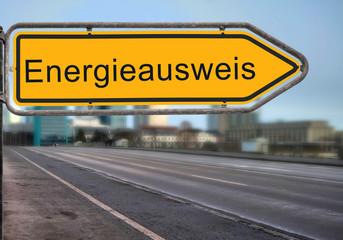 Strassenschild 14 - Energieausweis