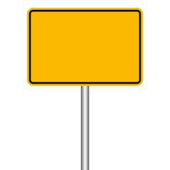 Ortsschild - blanko Schild