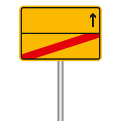 Ortsschild - Richtung nächstem Ort