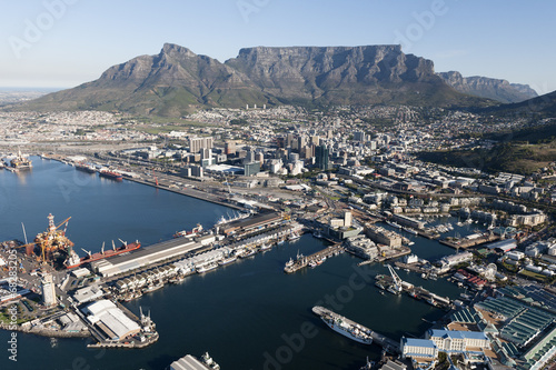 Fotobehang Zuid Afrika Cape Town - Aerial View