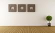 Contemporary empty room