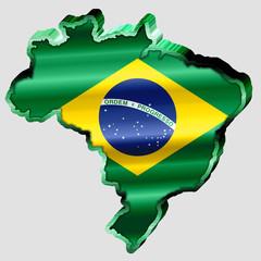 Mapa do Brasil Metálico