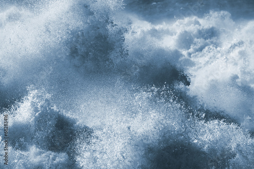 Poster Kust Big wave closeup