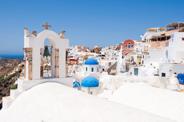 Oia village on the island of Santorini,Greece.