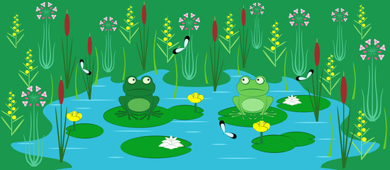 young frogs
