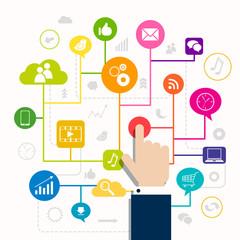 Vector Illustration of a Social Media Concept
