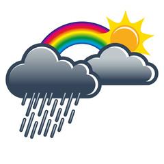 Regenbogen, Schauer, Wolkenbruch, Illustration