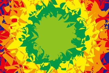 背景素材壁紙 (情熱, パッション, 放射, 放射状, 虹, 虹色, レインボー, 七色, メダル, メダル状, メダル型,)
