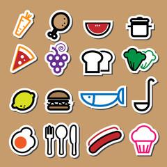 Food restaurant icons vector