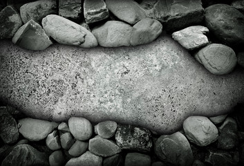 marble background with pebble