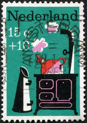 stamp shows Little Whistling Kettle, Nursery Rhyme