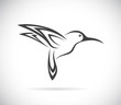 Vector image of an hummingbird design