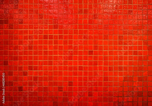 red mosaic background - 68285450