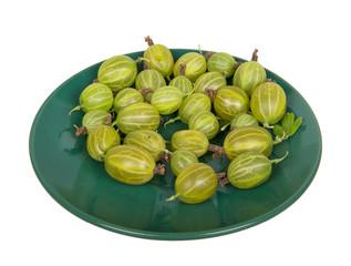 Gooseberry on green saucer