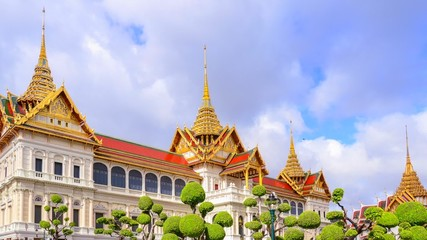 Royal grand palace in Bangkok. It called Chakri Maha Prasat.