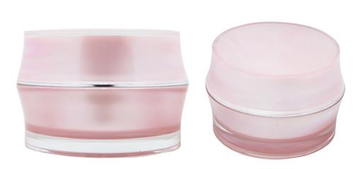 pink cream bottles packaging