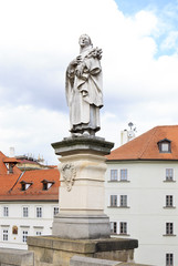 Statue of St. Philip Benitius. Charles Bridge in Prague.
