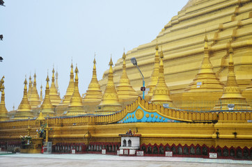 Shwemawdaw Paya Pagoda is a stupa located in Bago, Myanmar