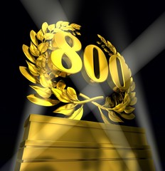 800 eight-hundred in golden numbers