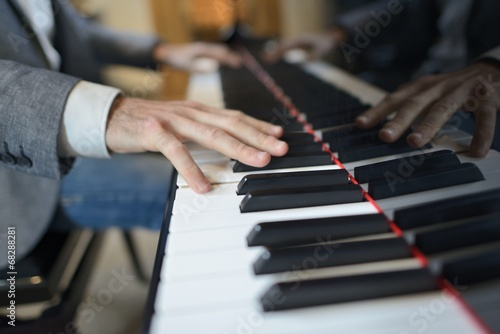 canvas print picture Pianistenhand