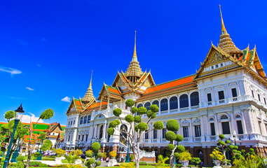 Grand palace or Chakri Maha Prasat Hall in Thailand