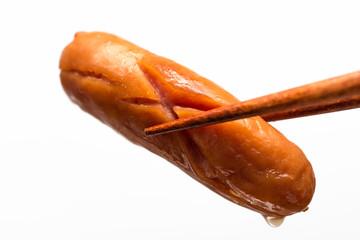 ウインナー ソーセージ sausages 白背景